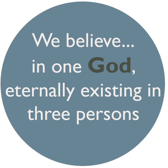 We believe in one God, eternally existing in three persons